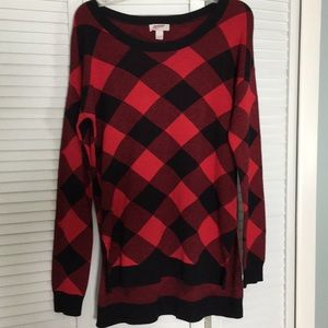 Flannel looking sweater brand new without tags